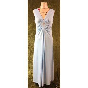 Vintage Dresses - LAST CHANCE ⚡️ 1970s blue disco maxi dress